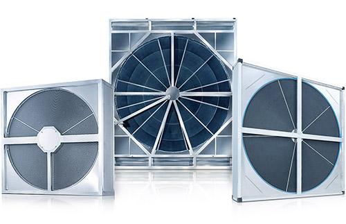 Rotary wheel type heat exchanger